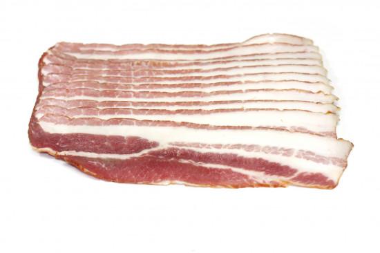 Poitrine de porc tranchée